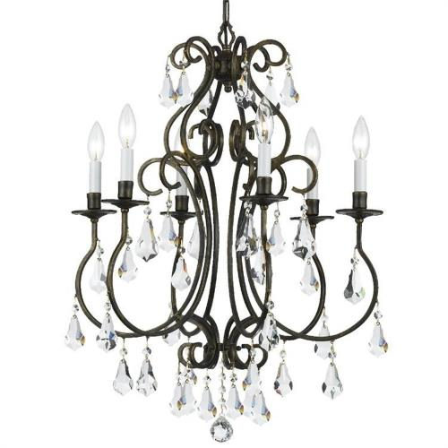 Crystorama Lighting 5016 Ashton - Six Light Chandelier in traditional and contemporary Style - 21.5 Inches Wide by 27 Inches High