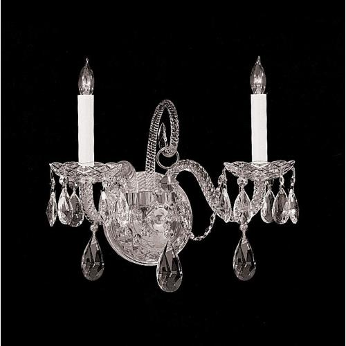 Crystorama Lighting 5042-CH-CL-SAQ Traditional Crystal - Two Light Wall Mount II