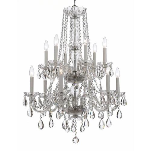 Crystorama Lighting 5047-CH-CL-I Traditional Crystal - Twelve Light Chandelier