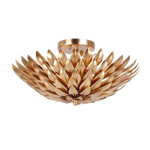 Crystorama Lighting 505 Broche - Four Light Flush Mount