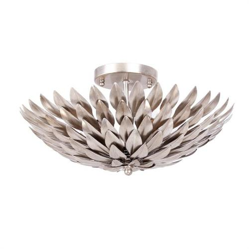 Crystorama Lighting 505 Broche - Four Light Flush Mount in traditional and contemporary Style - 16 Inches Wide by 6.25 Inches High