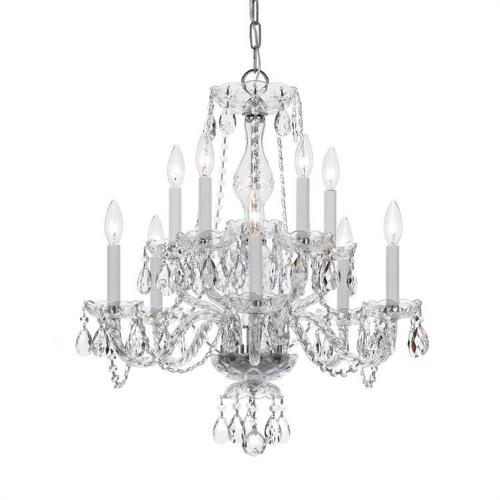 Crystorama Lighting 5080T Crystal - Ten Light 2-Tier Chandelier in traditional and contemporary Style - 23 Inches Wide by 25 Inches High