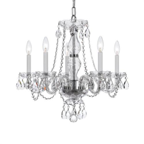 Crystorama Lighting 5085 Crystal - Five Light Chandelier in classic, elegant, and casual Style - 21 Inches Wide by 22 Inches High