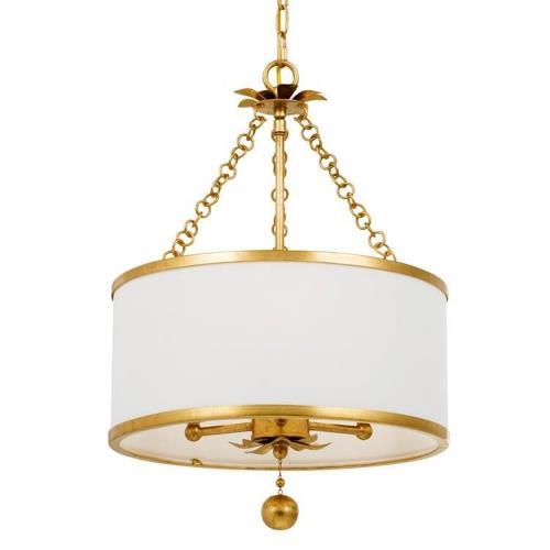 Crystorama Lighting 513-G Broche - Three Light Chandelier