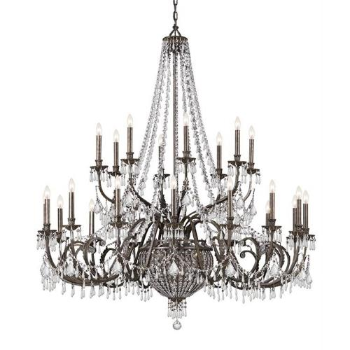 Crystorama Lighting 5170 Vanderbilt - Sixteen Light Chandelier in traditional and contemporary Style - 60 Inches Wide by 67 Inches High