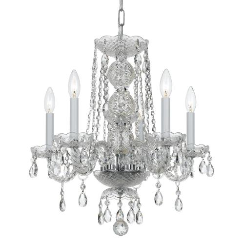 Crystorama Lighting 5295-CH-CL-MWP Traditional Crystal - 5 Light Mini Chandelier