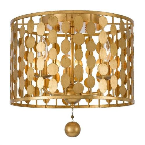 Crystorama Lighting 544 Layla - Three Light Flush Mount