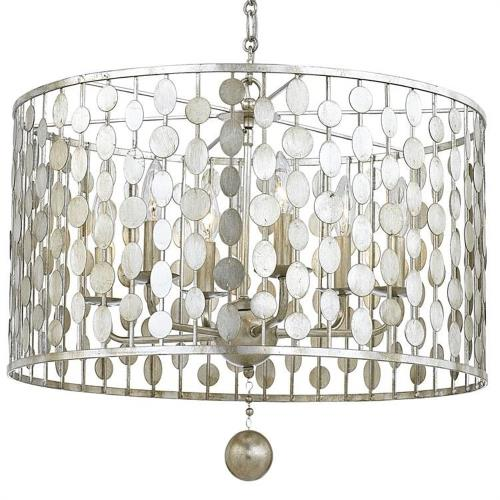 Crystorama Lighting 546 Layla - Six Light Chandelier