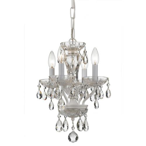 Crystorama Lighting 5534-WW-CL Traditional Crystal - Four Light Mini Chandelier