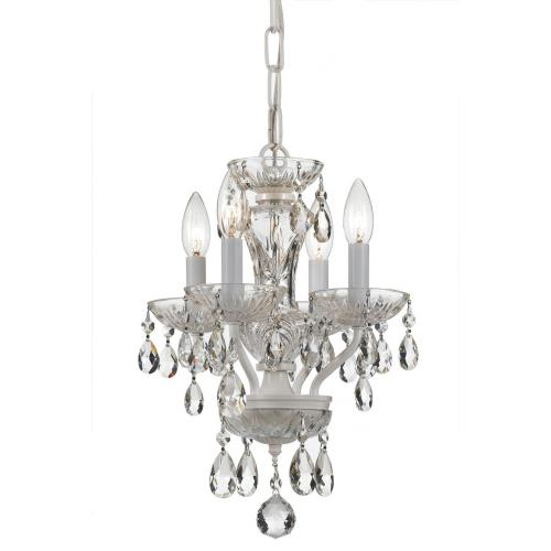 Crystorama Lighting 5534-WW-CL-S Traditional Crystal - Four Light Mini Chandelier