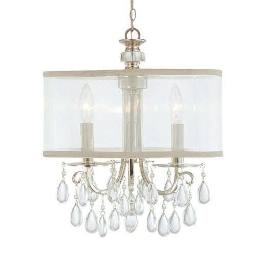 Crystorama Lighting 5623 Hampton - Three Light Chandelier in Minimalist Style - 14 Inches Wide by 17 Inches High