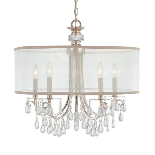 Crystorama Lighting 5625 Hampton - Five Light Chandelier in Minimalist Style - 24 Inches Wide by 23 Inches High