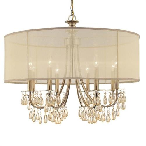 Crystorama Lighting 5628 Hampton - Eight Light Chandelier in minimalist  Style - 32 Inches Wide by 26 Inches High