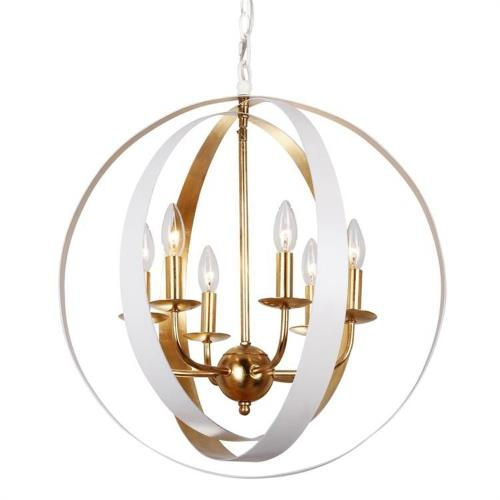 Crystorama Lighting 585-MT-GA Luna - Six Light Sphere Chandelier