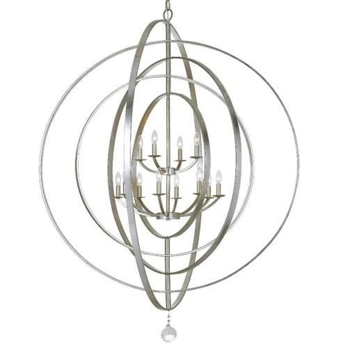 Crystorama Lighting 590-EB Luna - Twelve Light Chandelier in classic, elegant, and casual Style - 60 Inches Wide by 63 Inches High
