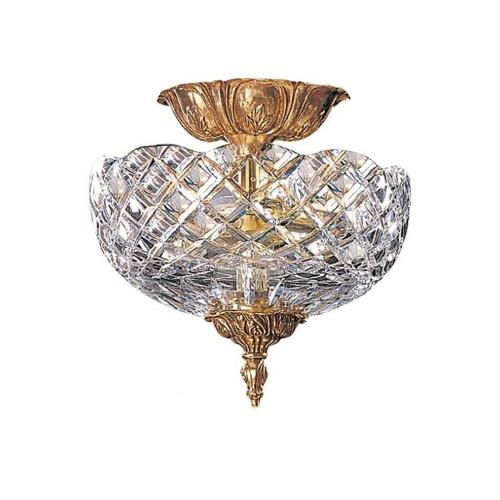 Crystorama Lighting 66 Arlington - 2 Light Ceiling Mount Brass in traditional and contemporary Style - 10 Inches Wide by 10 Inches High