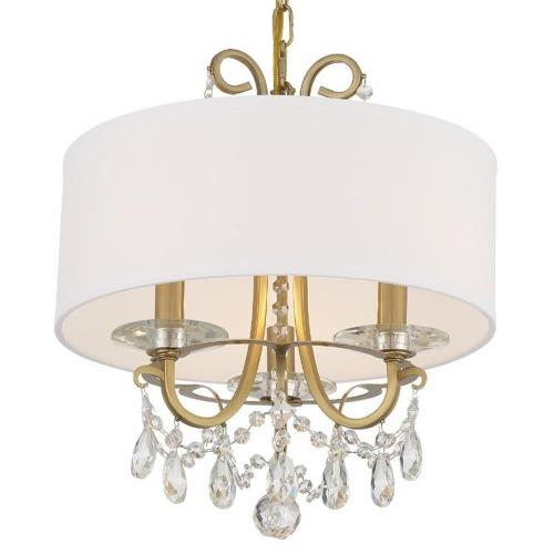 Crystorama Lighting 6623 Othello - 3 Light Chandelier in classic, elegant, and casual Style - 15 Inches Wide by 15 Inches High