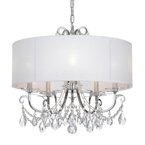 Crystorama Lighting 6625 Othello - 5 Light Chandelier in classic, elegant, and casual Style - 24 Inches Wide by 21 Inches High