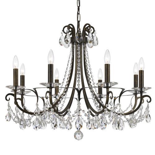 Crystorama Lighting 6828 Othello - Eight Light Chandelier in traditional and contemporary Style - 31 Inches Wide by 24.5 Inches High