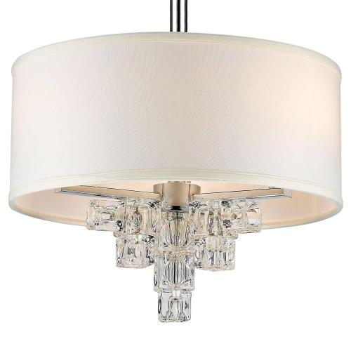 Crystorama Lighting 6833-CH Addison - Three Light Mini Chandelier