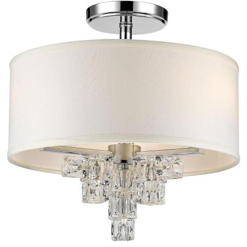 Crystorama Lighting 6833-CH_CEILING Addison - Three Light Flush Mount