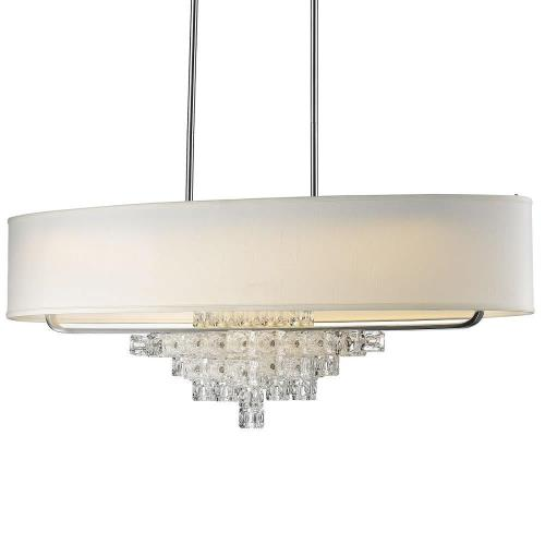 Crystorama Lighting 6837-CH Addison - 42 Inch Six Light Chandelier