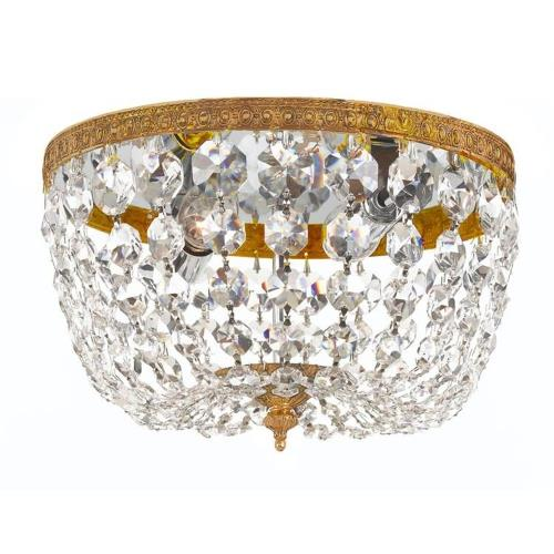 Crystorama Lighting 710 Richmond - Two Light Flush Mount in natural, organic, and raw Style - 10 Inches Wide by 7 Inches High