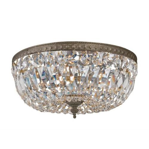 Crystorama Lighting 712 Three Light Flush Mount in traditional and contemporary Style - 12 Inches Wide by 7 Inches High