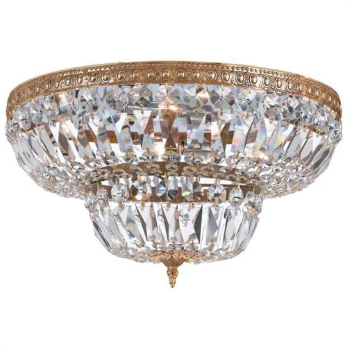 Crystorama Lighting 730 Richmond - 8 Light Ceiling Mount Cast Brass in natural, organic, and raw Style - 30 Inches Wide by 16 Inches High