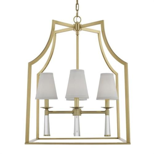 Crystorama Lighting 8864 Baxter - Four Light Chandelier in minimalist Style - 22 Inches Wide by 30 Inches High