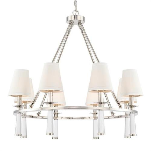 Crystorama Lighting 8867 Baxter - Eight Light Chandelier in timeless Style - 31.5 Inches Wide by 31 Inches High