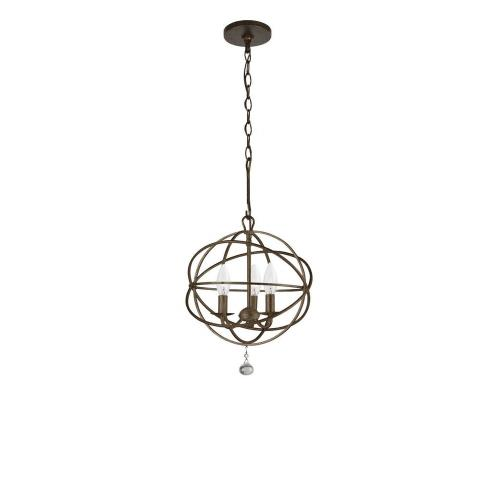 Crystorama Lighting 9225-EB Solaris - Three Light Chandelier