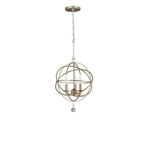 Crystorama Lighting 9225 Solaris - Three Light Mini Chandelier in minimalist  Style - 12.5 Inches Wide by 16.5 Inches High