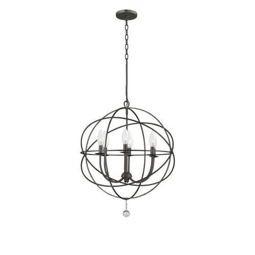 Crystorama Lighting 9226 Solaris - Six Light Chandelier in minimalist  Style - 22.5 Inches Wide by 27.5 Inches High