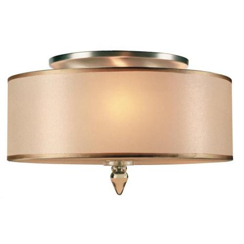 Crystorama Lighting 9503 Luxo Transitional 3 Light Ceiling Mount Steel in traditional and contemporary Style - 14 Inches Wide by 8.5 Inches High