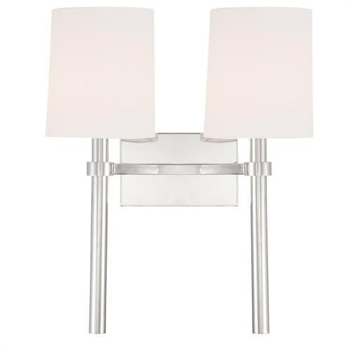 Crystorama Lighting BRO-452 Bromley - 2 Light Wall Mount in traditional and contemporary Style - 13.75 Inches Wide by 18.37 Inches High