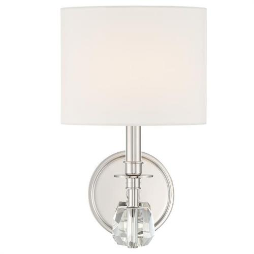 Crystorama Lighting CHI-211-PN Chimes - One Light Wall Sconce