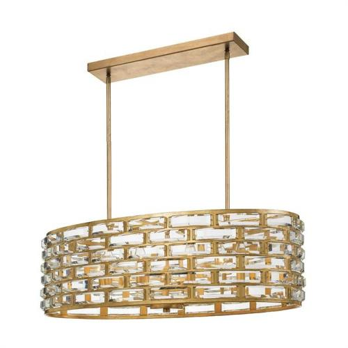 Crystorama Lighting MER-4869-GA Meridian - Eight Light Chandelier in classic, elegant, and casual Style - 32 Inches Wide by 10 Inches High