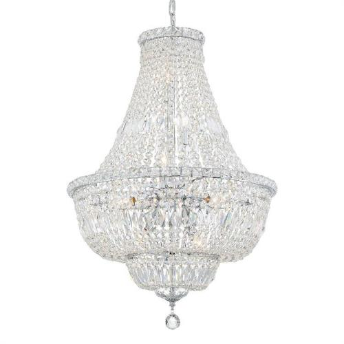 Crystorama Lighting ROS-A1009 Roslyn - 9 Light Chandelier in traditional and contemporary Style - 22 Inches Wide by 33 Inches High