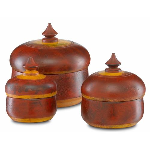 Currey and Company 1200-0276 Jaisalmer - 5.5 Inch Box (Set of 3)