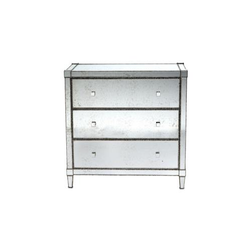 Currey and Company 3000-0015 Monarch - 32 Inch 3 DrawerChest
