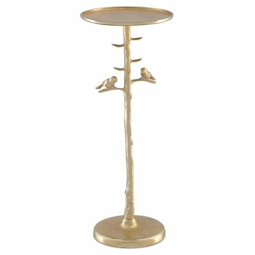Currey and Company 4000-0063 Piaf Gold - 25 Inch Drinks Table