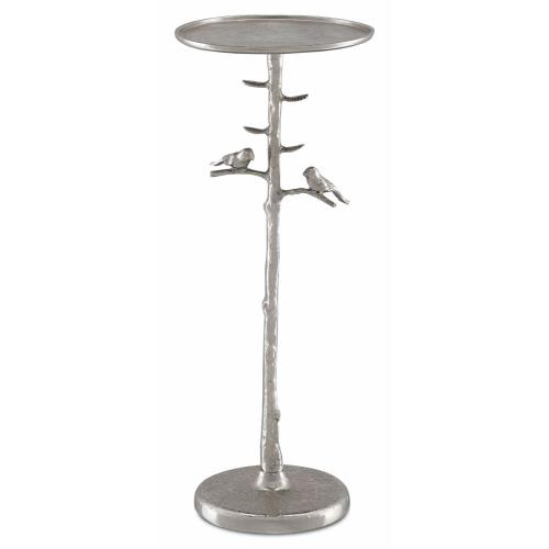 Currey and Company 4000-0064 Piaf Silver - 25 Inch Drinks Table
