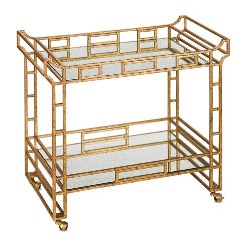 Currey and Company 4217 Odeon - 36 Inch Bar Cart