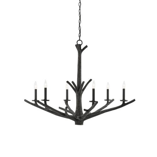 Currey and Company 9000-0033 Arboria - 6 Light Chandelier