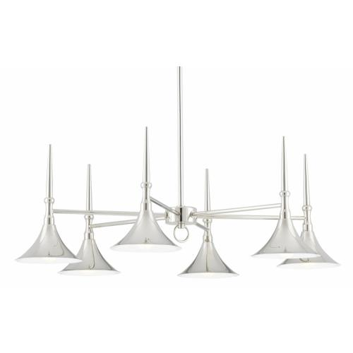 Currey and Company 9000-0616 Julian - 6 Light Chandelier