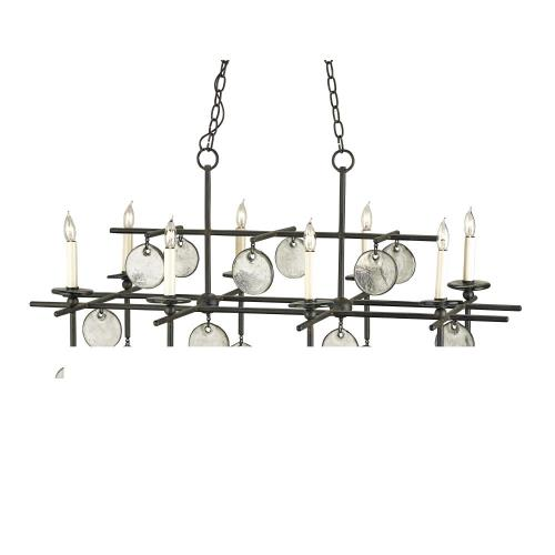 Currey and Company 9000-00-8RC Sethos - 8 Light Rectangular Chandelier