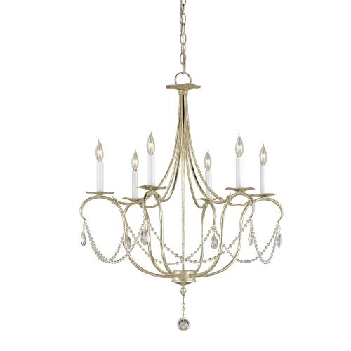 Currey and Company 989-6SC Crystal Lights - 6 Light Small Chandelier