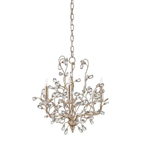 Currey and Company 988-3SC Crystal Bud - 3 Light Small Chandelier