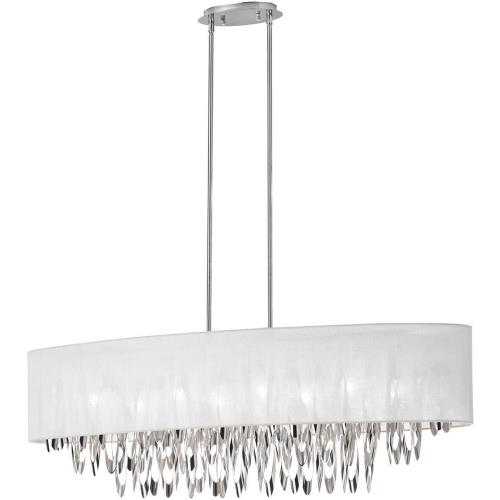 Dainolite ALL-448C-PC-WH Allegro - Eight Light Oval Chandelier
